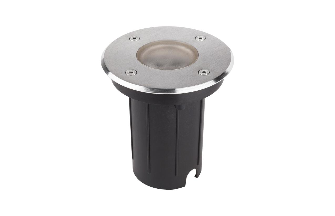 Projetor de chão redondo IP67 GU10 aro inox