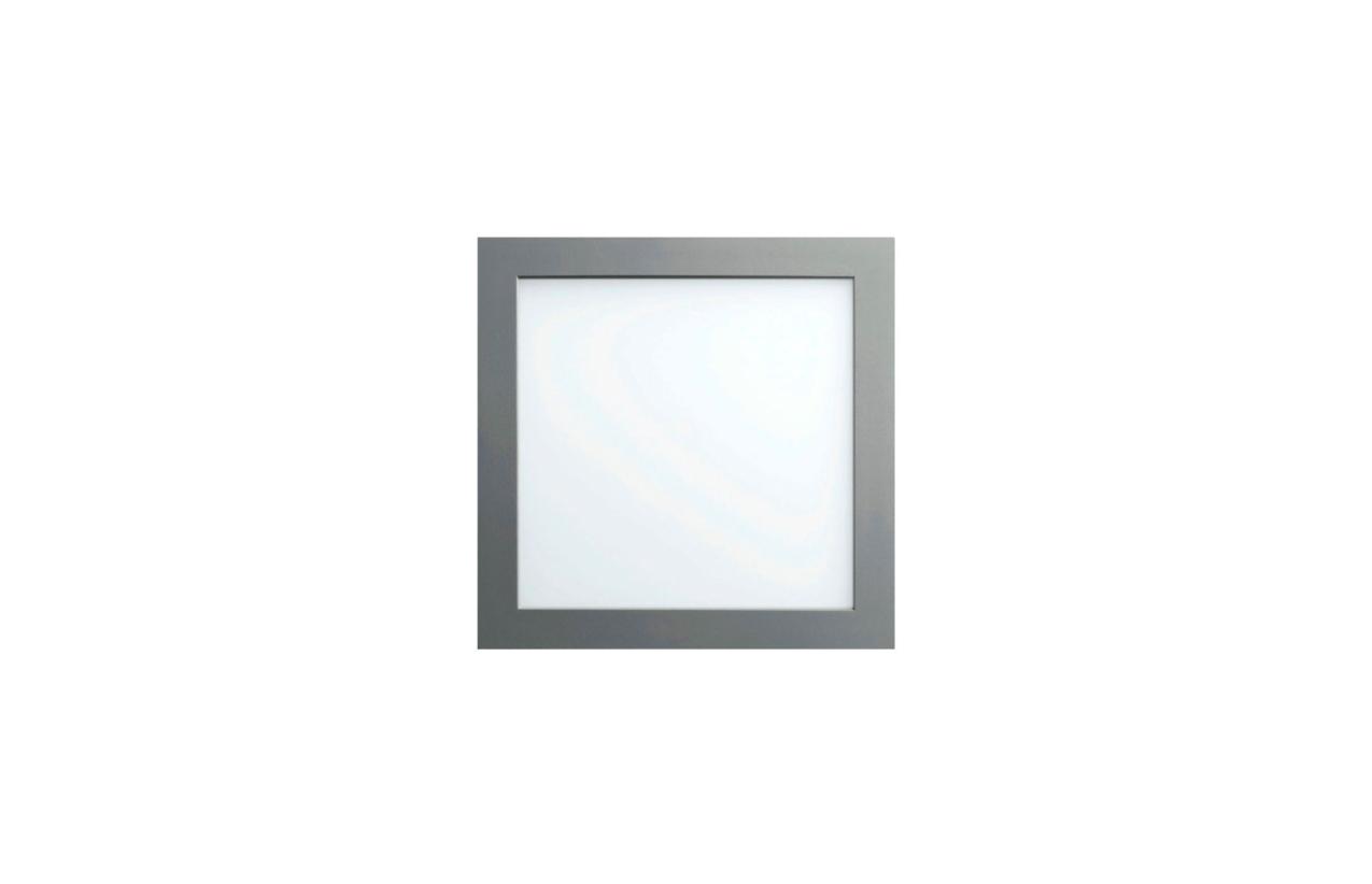 Painel Lupo quadrado encastrar LED 12W 4200K aço escovado