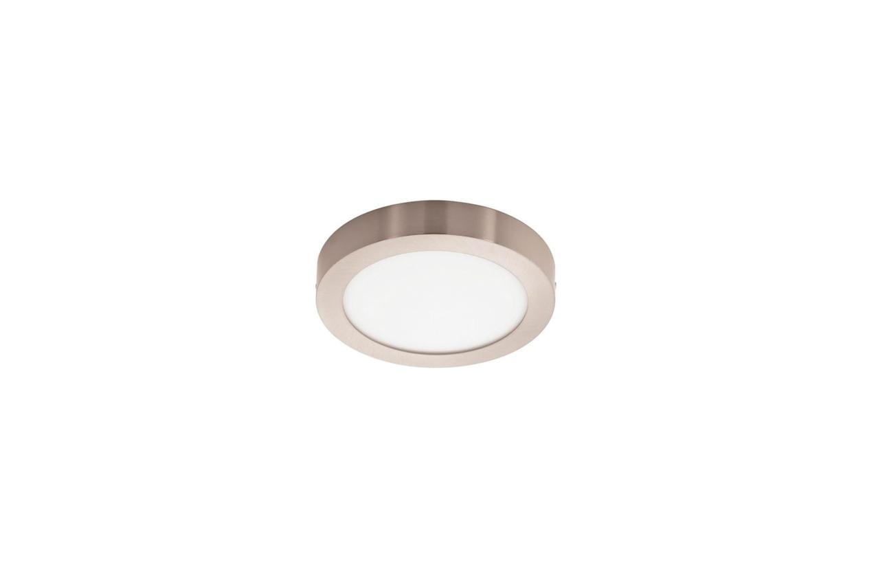 Painel Berna redondo saliente LED 18W 4200K aço escovado