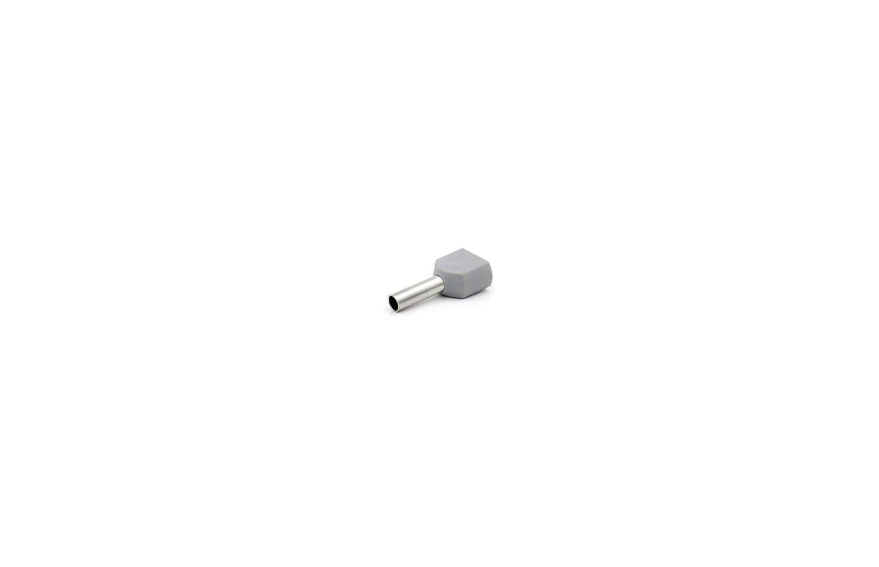 Ponteira isolada 2,5mm cinza claro