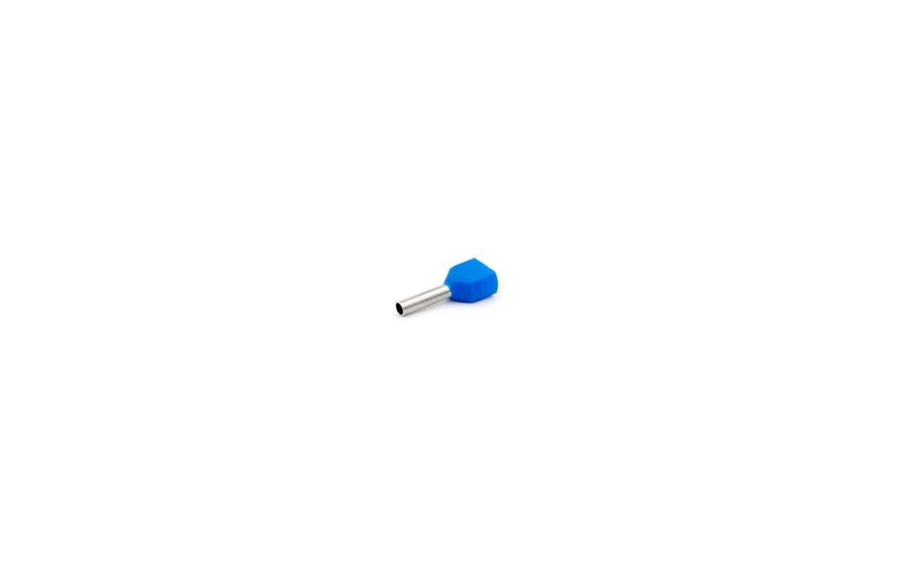 Ponteira isolada dupla 0,75mm azul