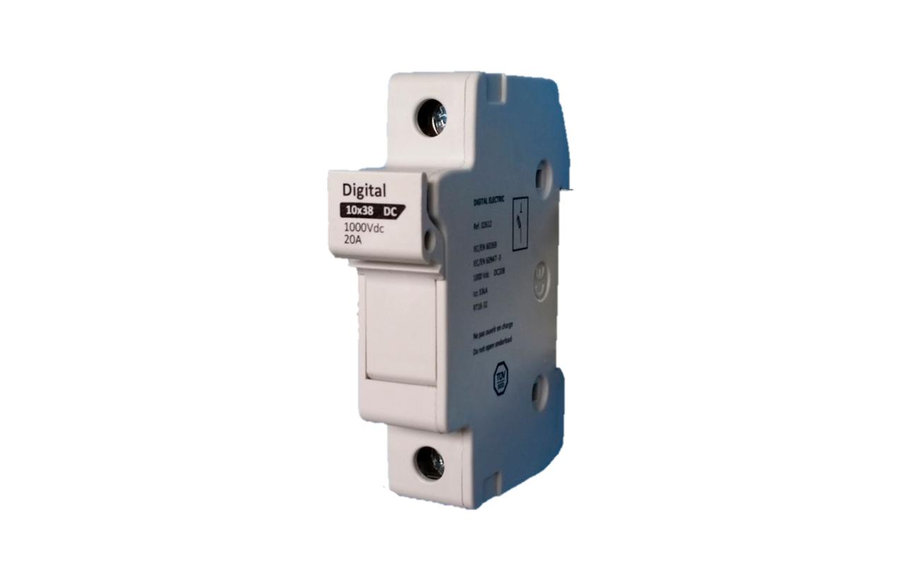 Corta-circuítos porta fusíveis 1P 1000Vdc