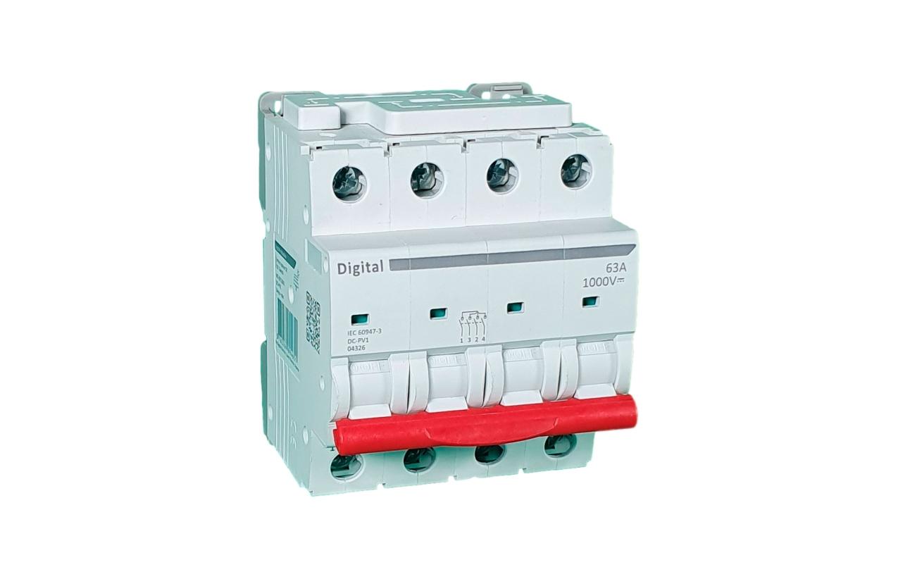 Interruptor geral 63A 1000Vdc