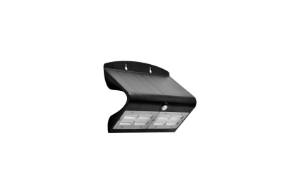 Aplique LED solar IP65 6,8W preto com detetor movimento